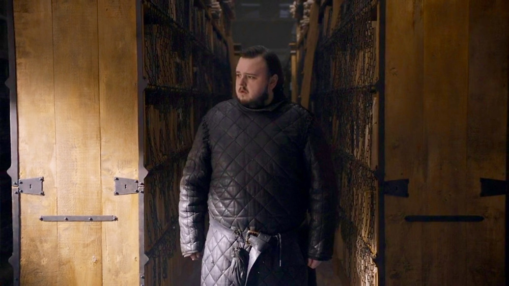 John Bradley-West as Samwell Tarly on Game of Thrones. Costume Design by April Ferry.