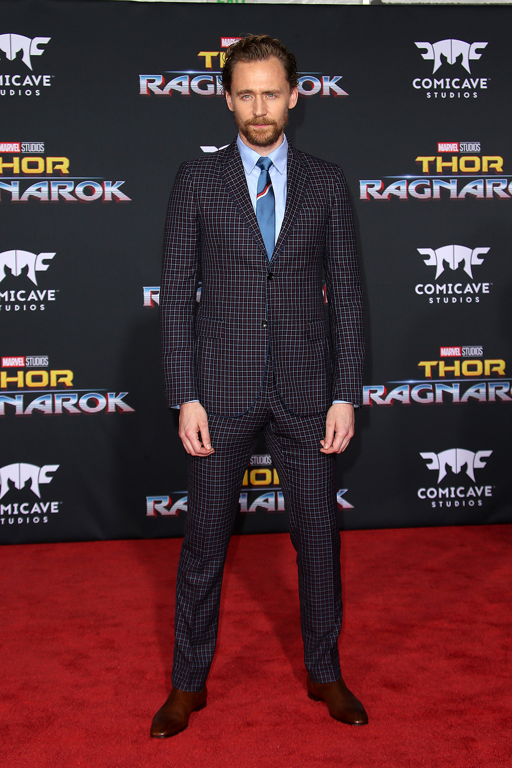 Tom in plaid Gucci at the Thor: Ragnarok premiere in Los Angeles was one of Urbinati's favorite looks she styled for 2017.