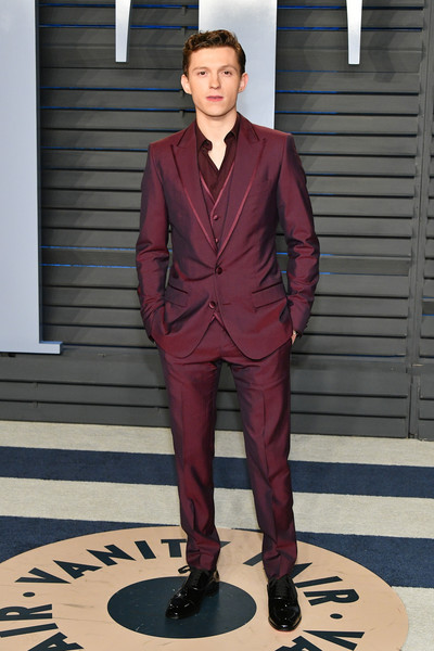 Tom Holland in Dolce & Gabbana for the Vanity Fair Oscars After Party. Styled by Law Roach.