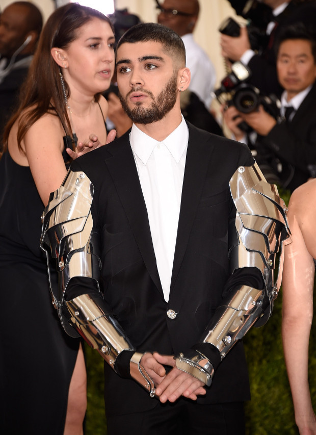 Zayn Malik armored in Versace.