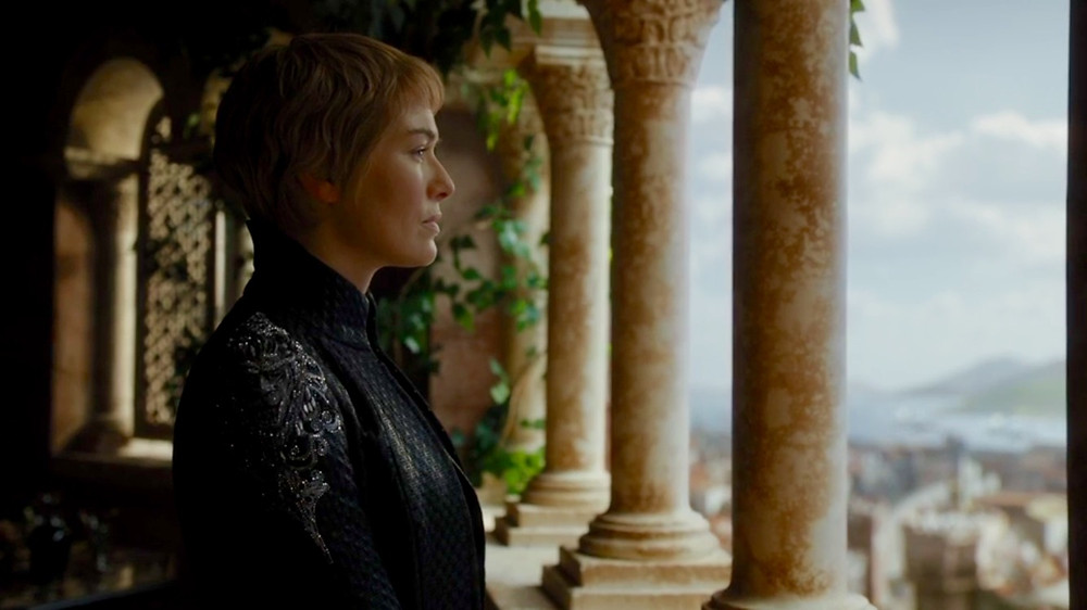 Lena Heady as Cersei Lannister on Game of Thrones. Costume Design by Michele Clapton.