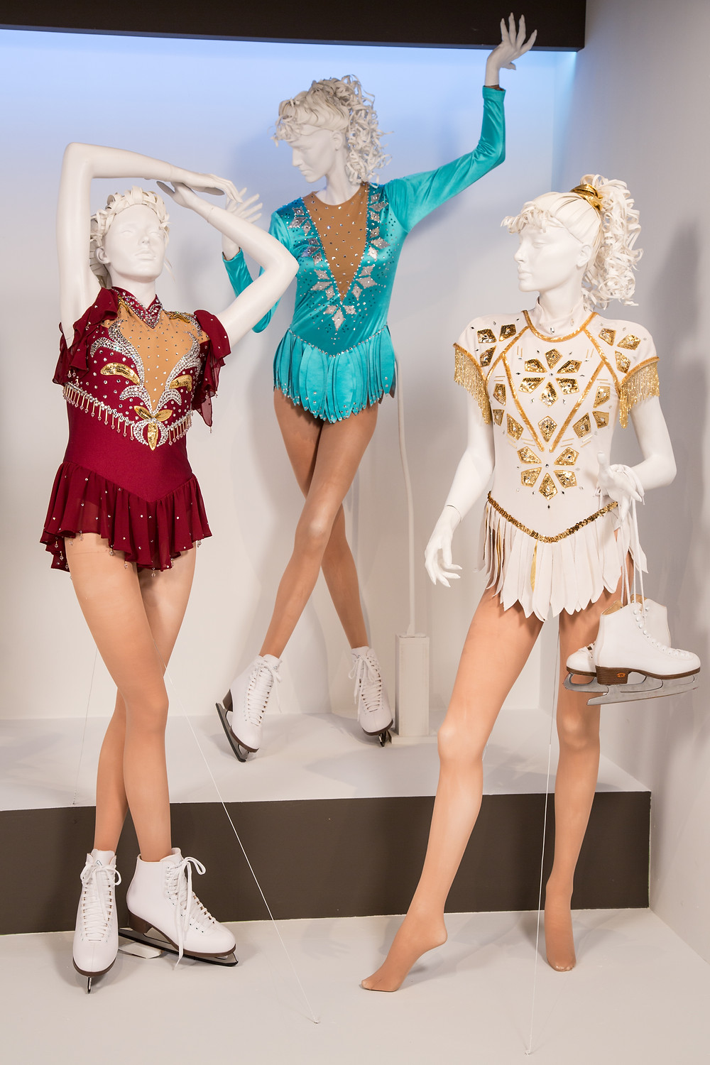 """I, Tonya"" costumes by Jennifer Johnson.  Costumes worn by actors: Margot Robbie as Tonya Harding."
