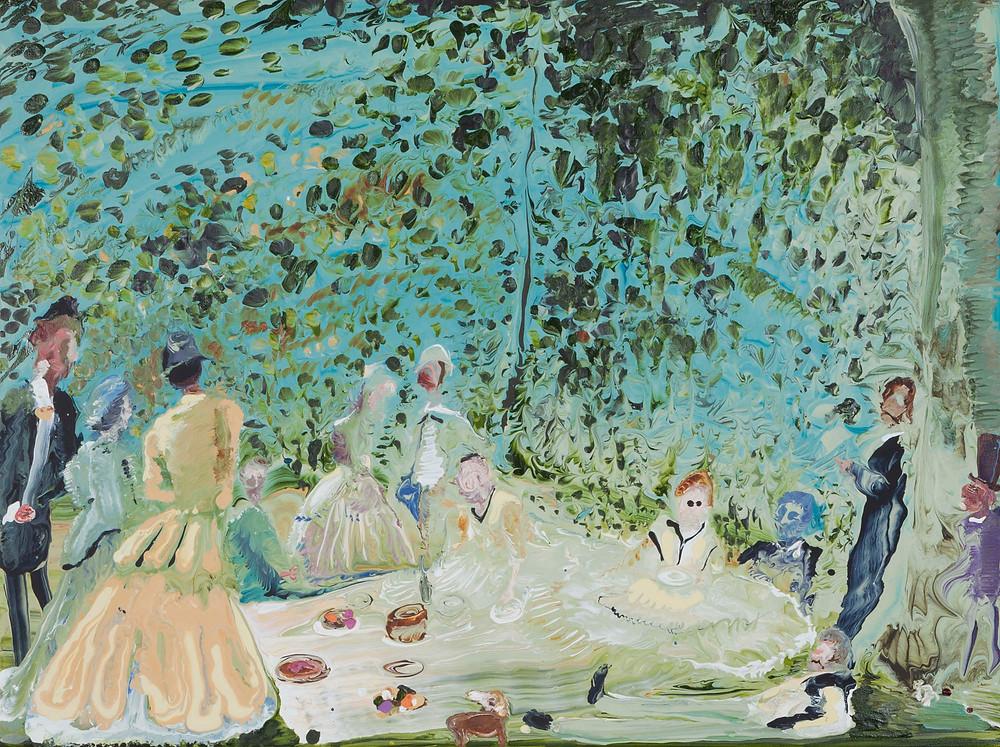 """Manet"" by Genieve Figgis. Acrylic on canvas 2018."