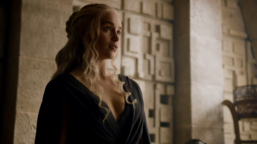 Emilia Clarke as Daenerys Targaryen on Game of Thrones. Costume Design by Michele Clapton.