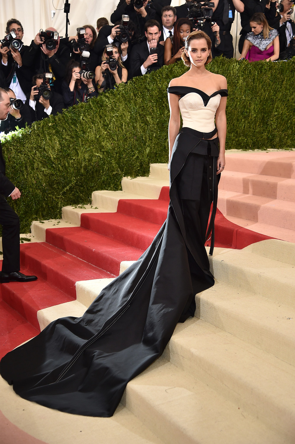 Emma Watson wearing the most beautiful trash you will ever see!