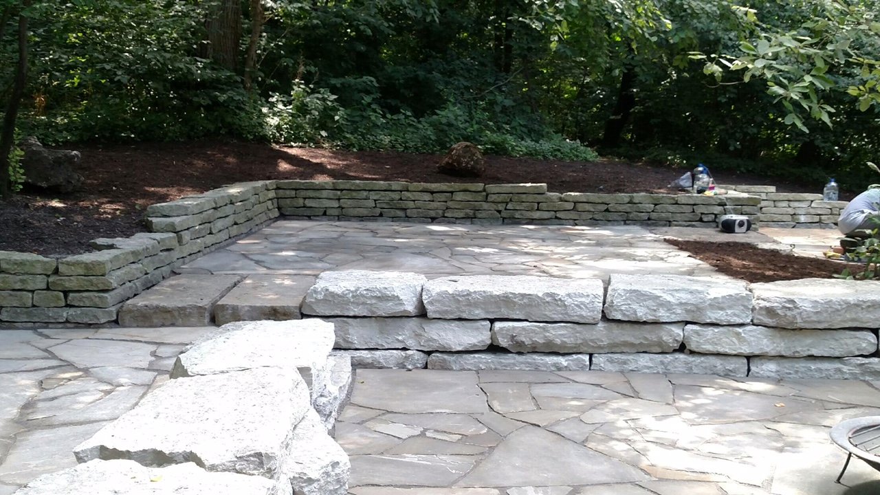 Stone Deck & Retaining Wall