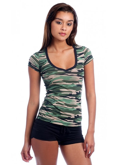 Camo Fitted Top