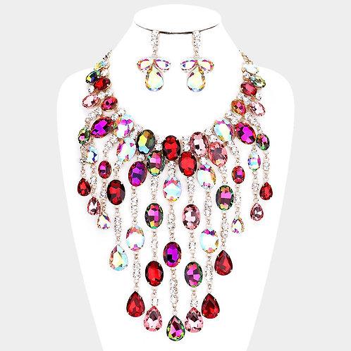 Glamorous Fringe Necklace Set
