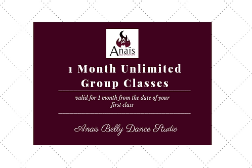 1 Month Unlimited Classes