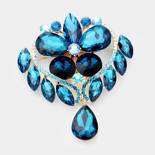 Teardrop Crystal Brooch