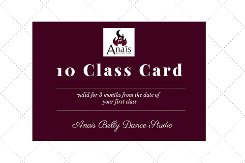 10 Class Card