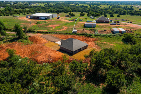 Aerial oh back of home