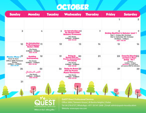 October 2021 CPD Calendar