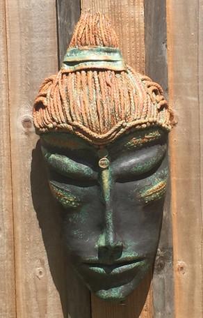 Serene green garden head-£230-SOLD