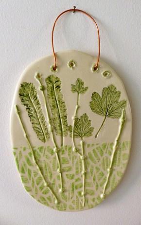 Leaf plaque £30