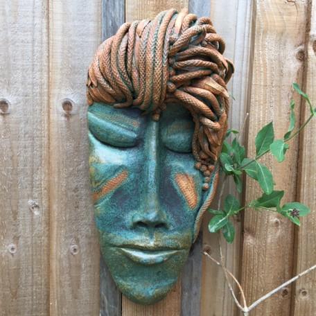 Stoneware garden face £230-SOLD