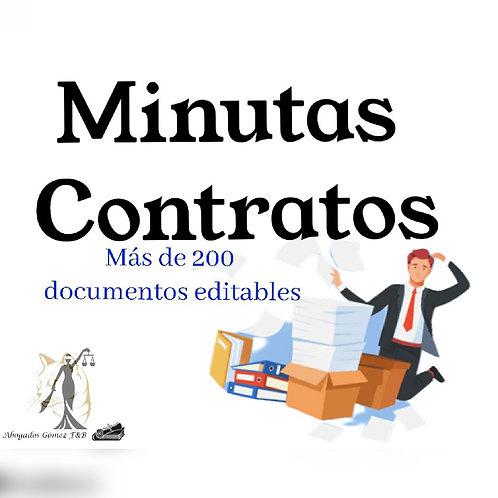 Minutas en todo tipo de contratos