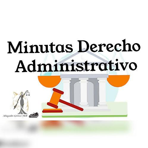 Minutas en derecho administrativo
