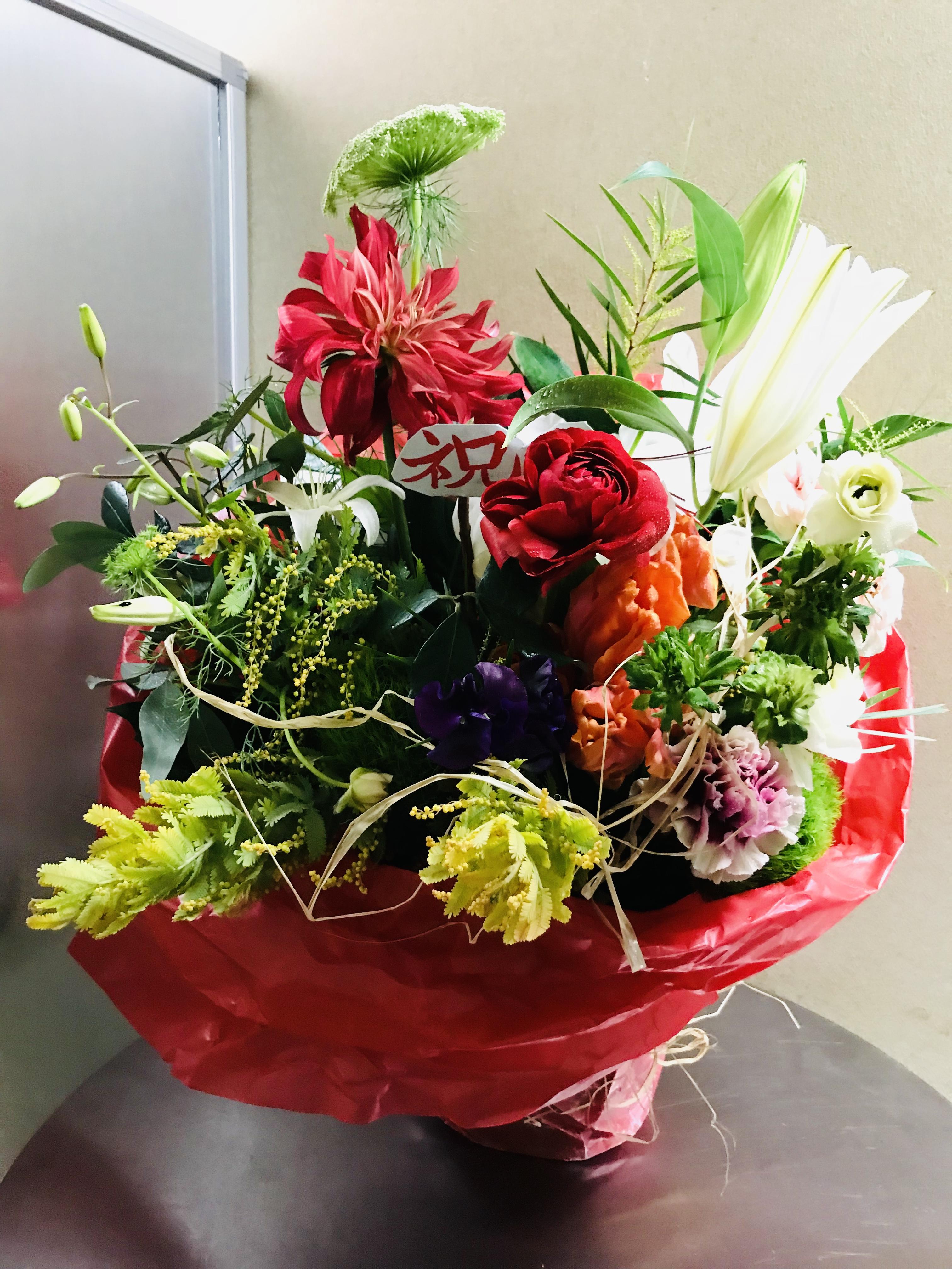 2018出版記念お祝い花