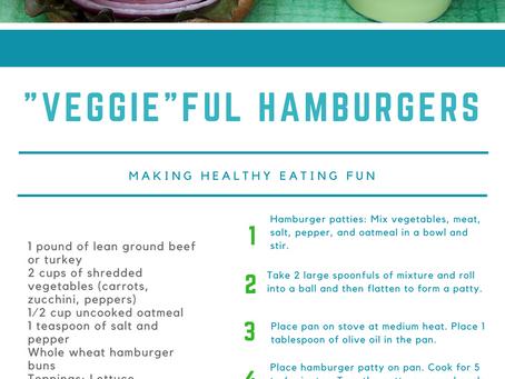 "Summer Recipe Series #1 - ""Veggie""Ful Hamburgers"