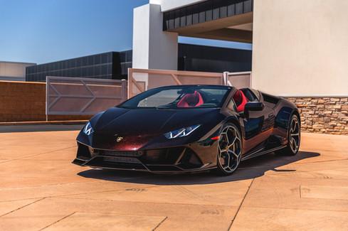 Lamborghini Huracan EVO Spyder in Nero Granatus // Lamborghini North Scottsdale