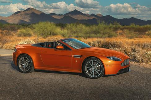 Aston Martin Vantage in Madagascar Orange // Owner