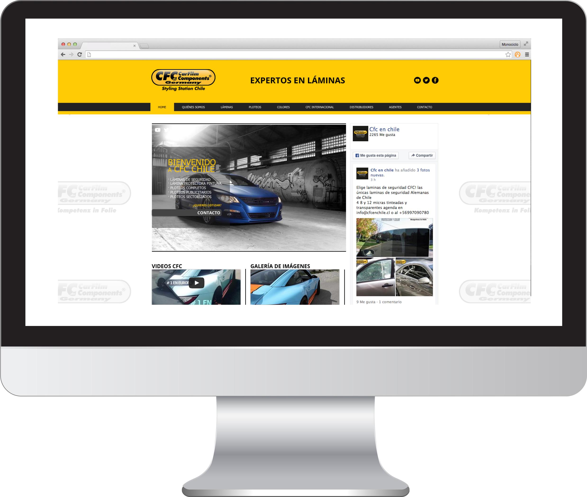 Sitio Web CFC Chile