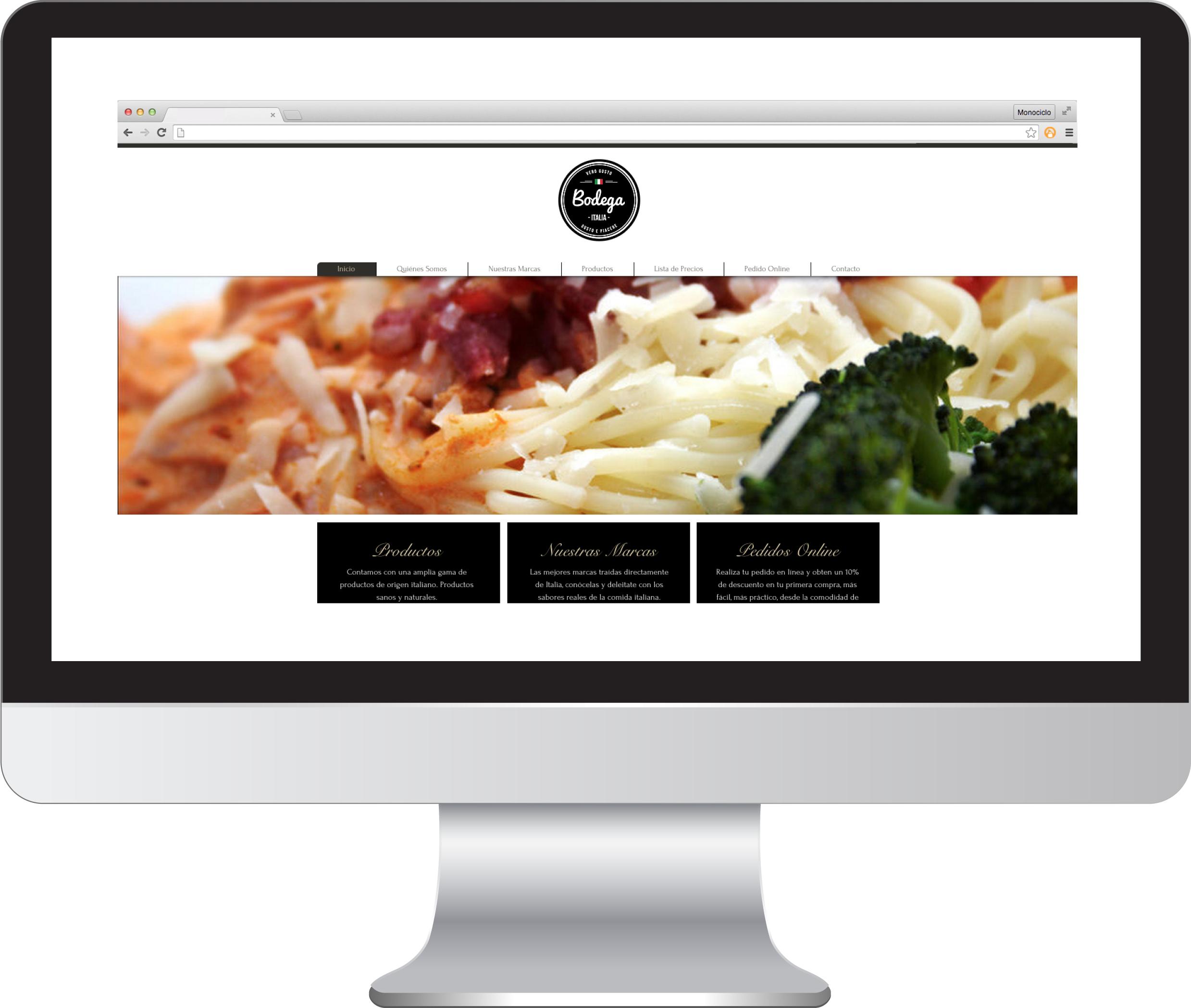 Sitio Web Bodega Italia