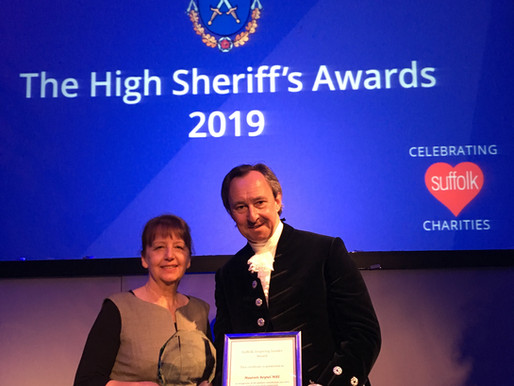 FIND founder wins Inspiring Leader accolade at Suffolk High Sheriff Awards