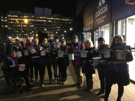 Bucket loads of Blues support for Ipswich food bank FIND at ITFC's Portman Road