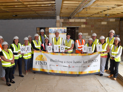 FIND tops out the new foodbank and reaches £100k FIND 50 appeal target