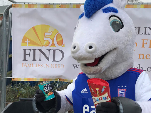Local football club host collection for Ipswich food bank