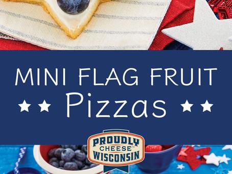 Mini Flag Fruit Pizzas