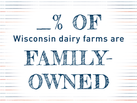 How many Wisconsin dairy farms are family-owned?
