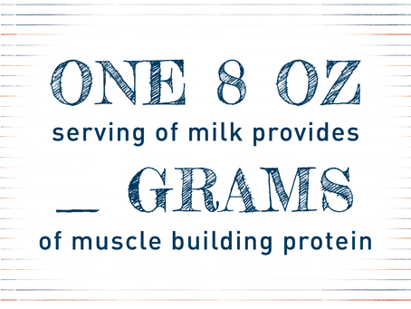 How many grams of protein does 8oz of milk provide?
