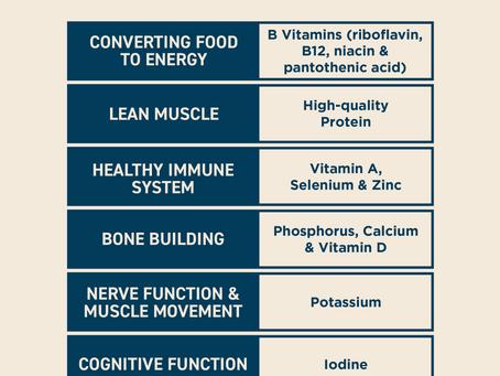 Milk's essential nutrients