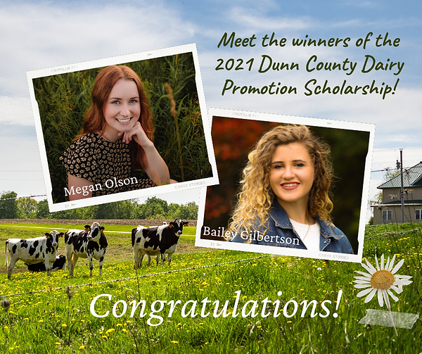 Dairy Promotion Scholarship Awarded Face