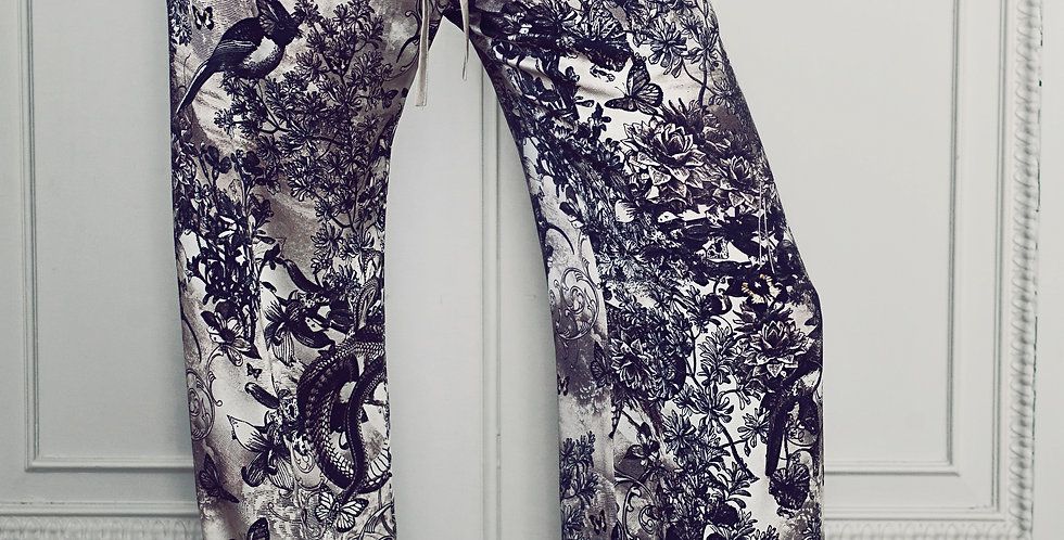 'Cygnus' Silk Trousers
