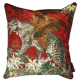 'Leopard' Velvet Scatter Cushion