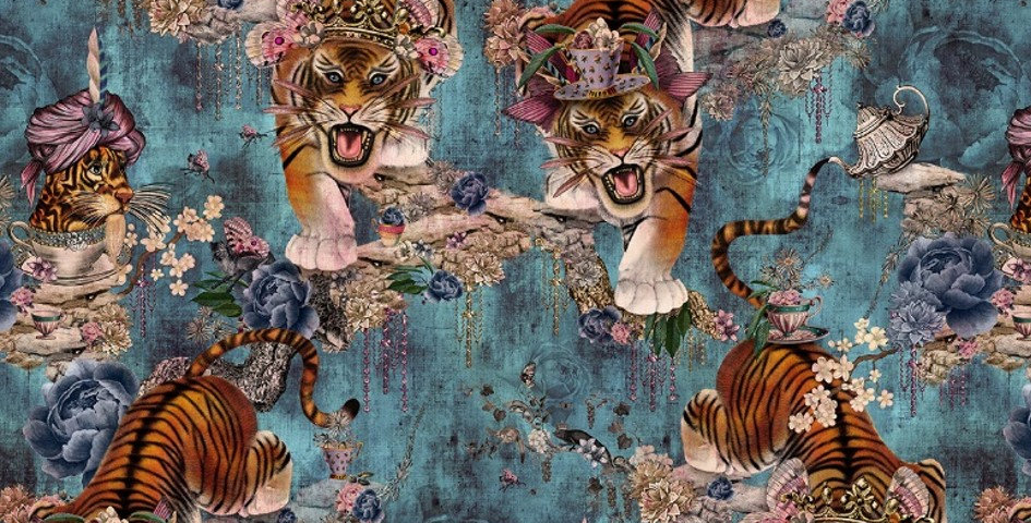 Tiger's Teatime - Denim
