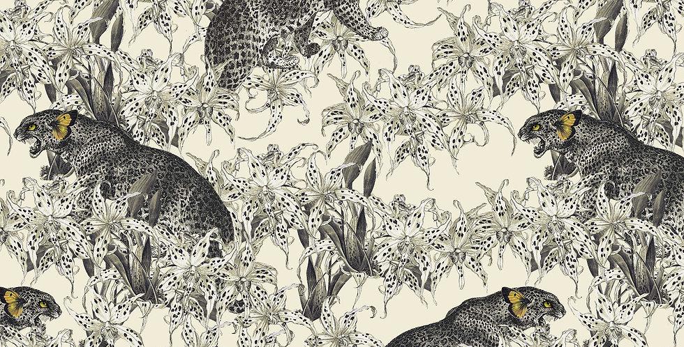 Wallpaper Leopards Prowl - Cumin