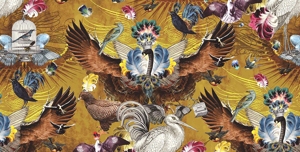 Wallpaper Arrivée des Oiseaux - Citrine