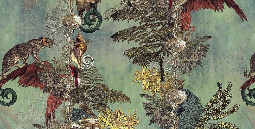 Wallpaper Jungle Paradise - Cardamom