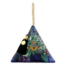 'Feathers' Pyramid Clutch