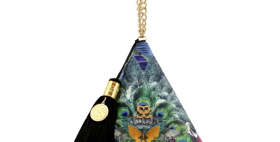 'Feathers' Pyramid Clutch
