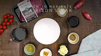 How to marinate a bison steak.