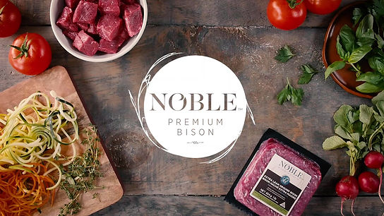 Noble premium bison is better than beef and non-meat products because bison is lower in fat and sodium, and higher in iron and other nutrients.