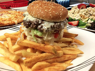 Cheeseburger Platter with Fries, Colchester Pizza