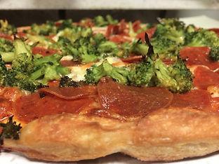 Broccoli and Pepperoni Pizza, Colchester Pizza
