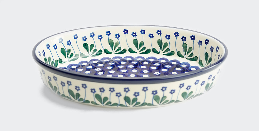 Medium Oval Baking Dish in Daisy